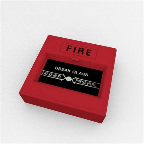 Alarm Emergency emergency alarm button 3d model blend cgtrader