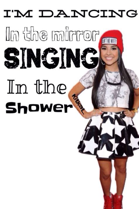 Singing In The Shower Lyrics by Becky G Quotes Quotesgram