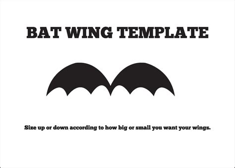 bat wing template treat critters tutorial company