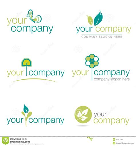 gardening logo ideas set of six nature and gardening logos vector stock