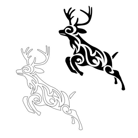 tribal deer tattoo tribal deer and piericings