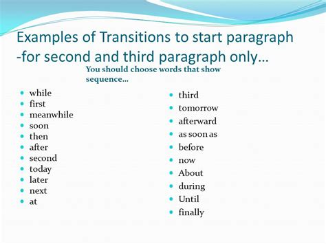 Transition Exles For Essays by Writing An Essay Career Fair Paper Ppt