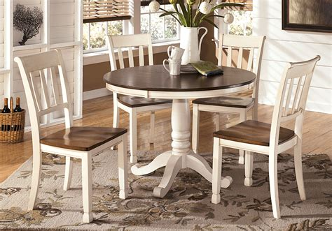 whitesburg dining table and 4 side chairs