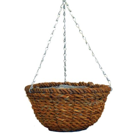 Hanging Planter Chain by Pride Garden Products 12 In Rope Hanging Planter