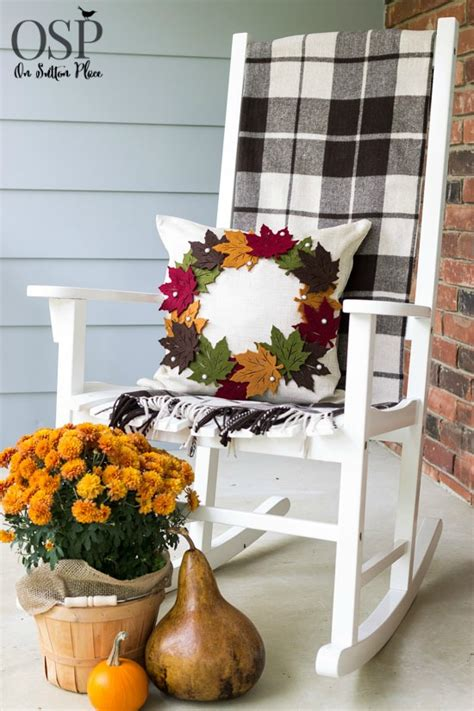 pottery barn inspired fall front porch diy pottery barn inspired fall wreath pillow on sutton place