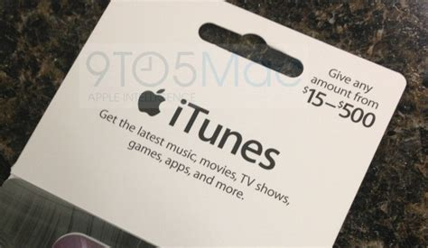 Itunes Gift Card Amounts - apple rolling out new itunes gift cards with flexible load amounts from 15 500 mac