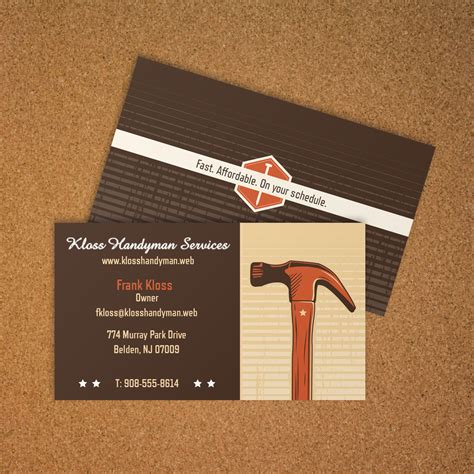 Calling Card Template Construction by General Contractor Business Card Vistaprint Business