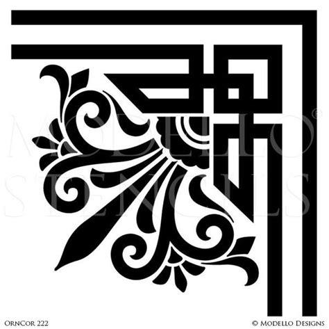 Corner Stencils for Custom Painted Floor, Walls, Ceiling