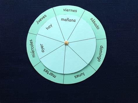 verb wheel template days of the week printable wheels to teach los