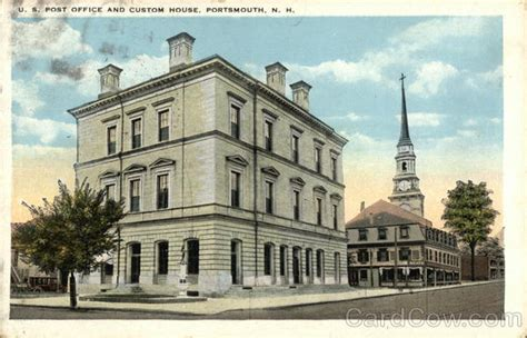 u s post office and custom house portsmouth nh postcard