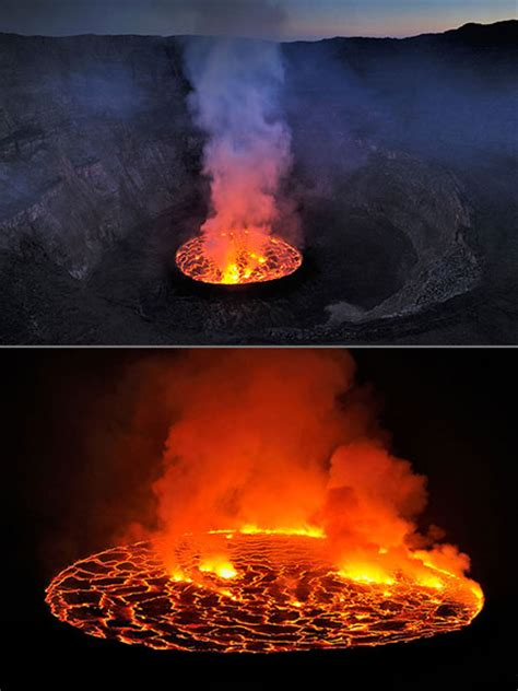 s largest lava l mind blowing look at the s largest lava lake at the
