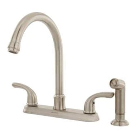 glacier bay kitchen faucet 019934871532 upc glacier bay 2 handle side sprayer kitchen faucet in brushed nickel f8fa0000bnv