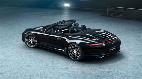 porsche black porsche boxster and 911 carrera black editions get detailed
