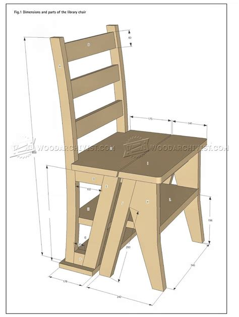 Library Step Stool Plans by Make Step Stool Woodarchivist