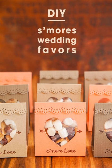 How To Make Wedding Giveaways - how to make these adorable s more love wedding favors