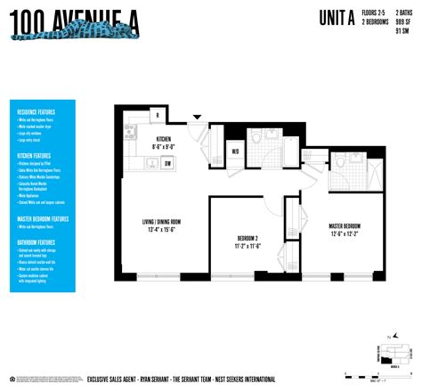 100 Gold 4th Floor New York Ny 10038 by Luxurious East New Development 100 Avenue A 2 Br
