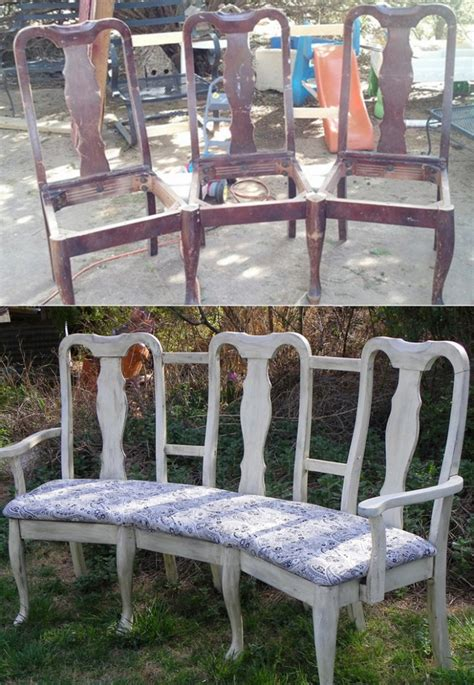 chair bench diy 8 diy projects for turning old chairs into gorgeous benches
