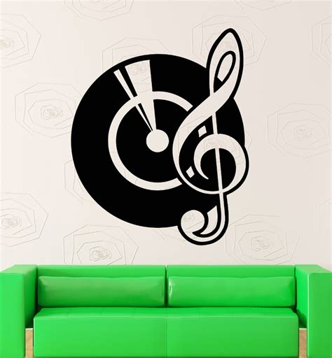 wall stickers vinyl decal vinyl records music notes dj cool room decor in wall stickers from