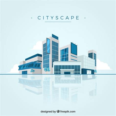 Windshield Mini Vector Sectbill modern cityscape background vector free