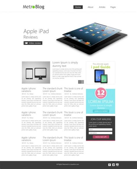blog layout template psd premium metro style blog template psd psd file free download