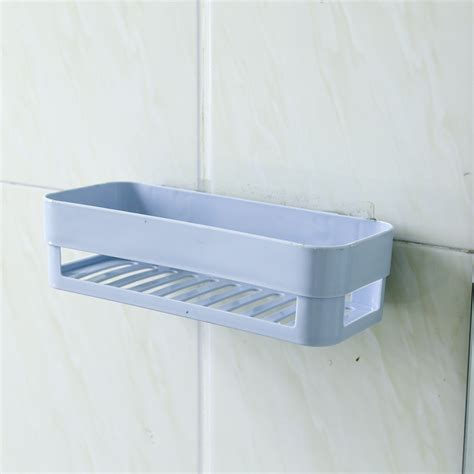 Wall Shelf Rack Plastic Bathroom Kitchen Corner Wall Storage Rack