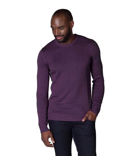 mens oversized knitted jumper woolovers mens 100 cotton crew neck jumper sweater