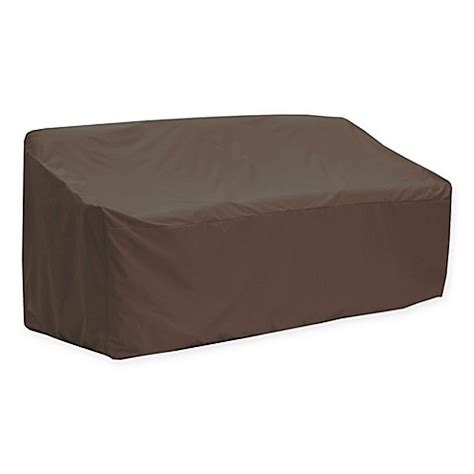 dark brown couch covers canvas patio sofa cover in dark brown black bed bath