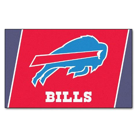 Buffalo Bills Rug fanmats buffalo bills 4 ft x 6 ft area rug 6563 the home depot