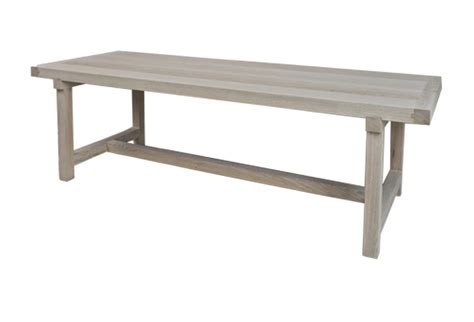 Bleached Dining Table Belgian Bleached Oak Dining Table Or Desk With Stretcher Omero Home