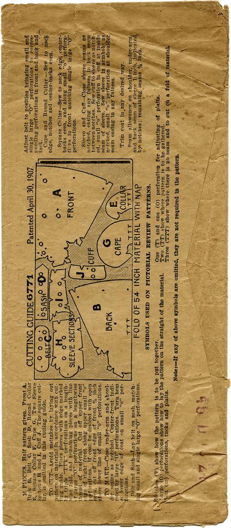 antique pattern library sewing vintage girls coat pattern envelope free digital