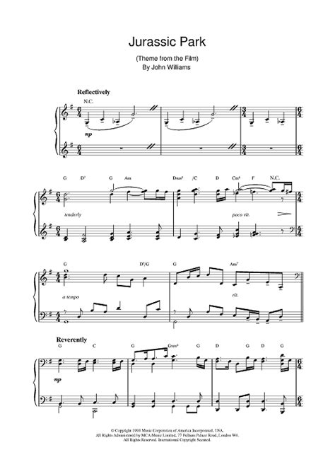 tutorial piano jurassic park jurassic park sheet music music for piano and more