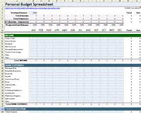 Personal Budgets Templates by Personal Budget Spreadsheet Template For Excel