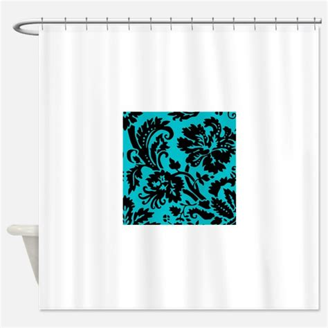 85 shower curtain turquoise shower curtains cafepress