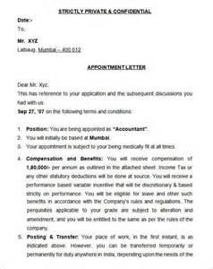 appointment letter university 25 appointment letter templates free sample example job appointment letter sample pdf cover letter templates