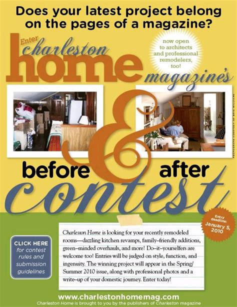Magazine Contests And Sweepstakes - charleston magazine remodeling contest