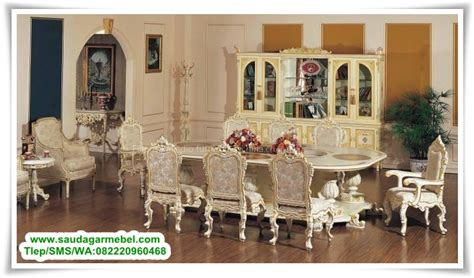 Lemari Olympic Makassar furniture shop jakarta set meja makan mewah cat duco