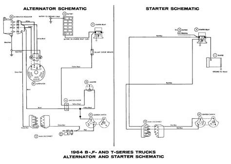 alternator and starter schematic diagrams of 1964 ford b