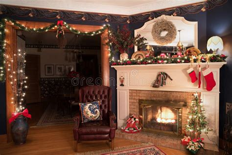 christmas decoration design world class living room stock image image 64011621