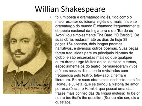 biografia de william shakespeare pensador romeu e julieta