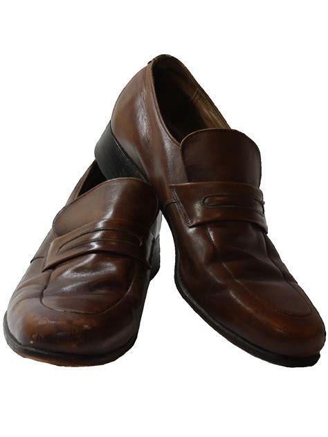 retro 1970s shoes 70s florsheim mens brown leather