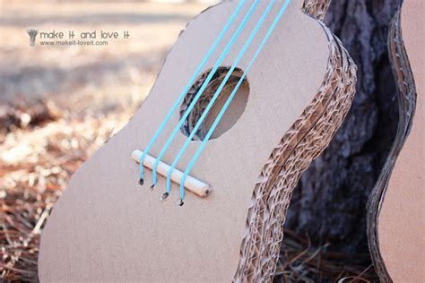 How To Make A Paper Guitar That Works - the mister make it and it series cardboard guitars