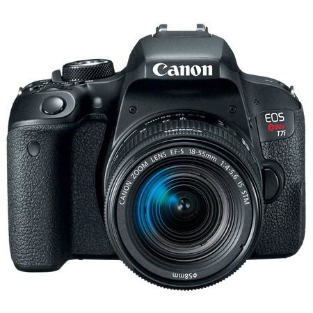 canon eos rebel t7i dslr with 18 55mm stm lens