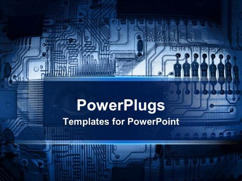 themes powerpoint electronics powerpoint template blue printed circuit board