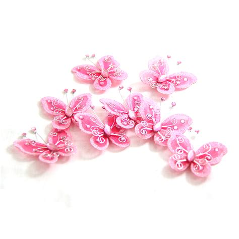 pink glitter butterfly for weddings butterfly craft