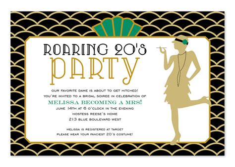 roaring 20s birthday card template long hairstyles