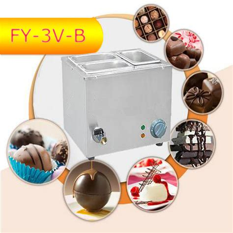 Chocolate 1 3 Tamat 1pc fy 3v b sale three cylinder electric chocolate fondue chocolate melt pot