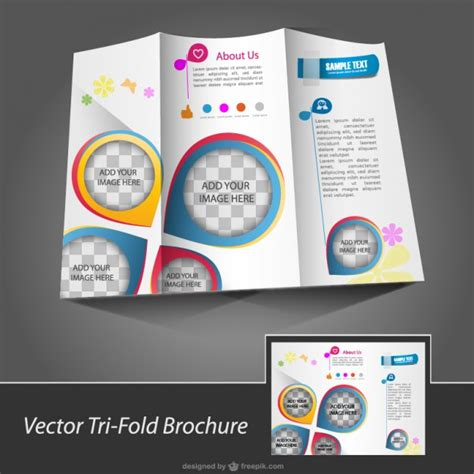 download layout brochure brochure template free for download vector free download