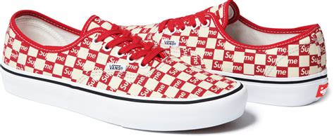 supreme x vans supreme vans checkerboard sole collector
