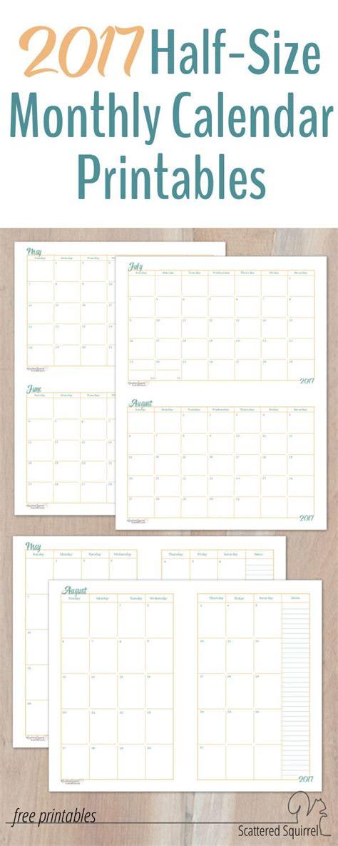 small binder calendar template 2017 half size monthly calendar printables a5 planners