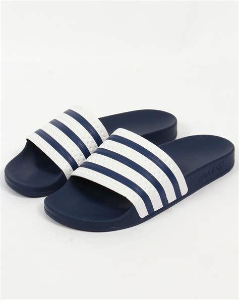 adidas adilette adidas adilette slides white navy sandals pool mens